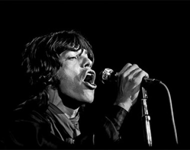 Painting of Mick Jagger by Ken Davidoff