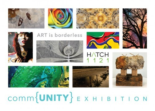 commUNITY exhibition postcard