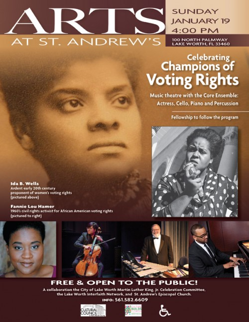Champions of Voting Rights event flyer