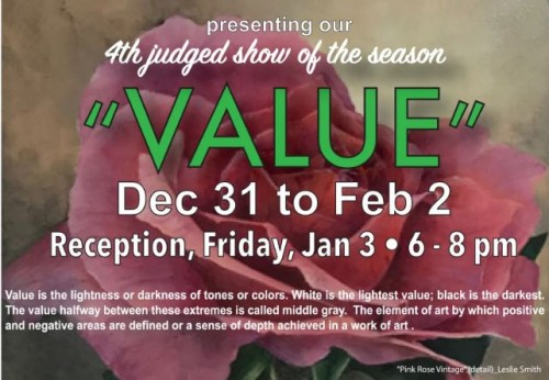 Value art exhibit flyer