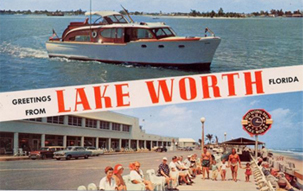 Image of a vintage Lake Worth postcard